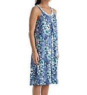 Carole Hochman Blue Floral Ballet Gown 1821271