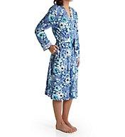 Carole Hochman Blue Floral Ballet Robe 1841271