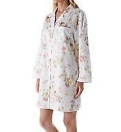 KayAnna Brushed Back Satin Floral Sleepshirt B12145